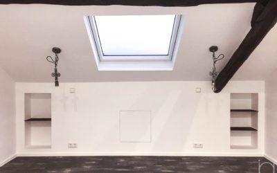 Interior design – Attic of a house in Rodange
